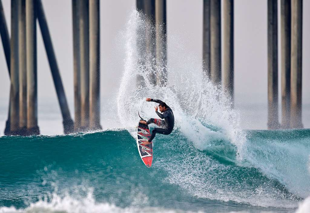 Surf à Huntington Beach, Californie