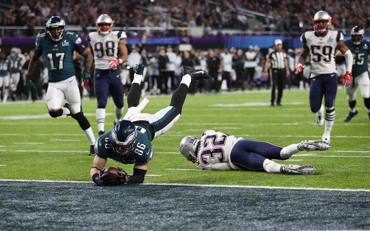 Touchdown des Philadelphia Eagles