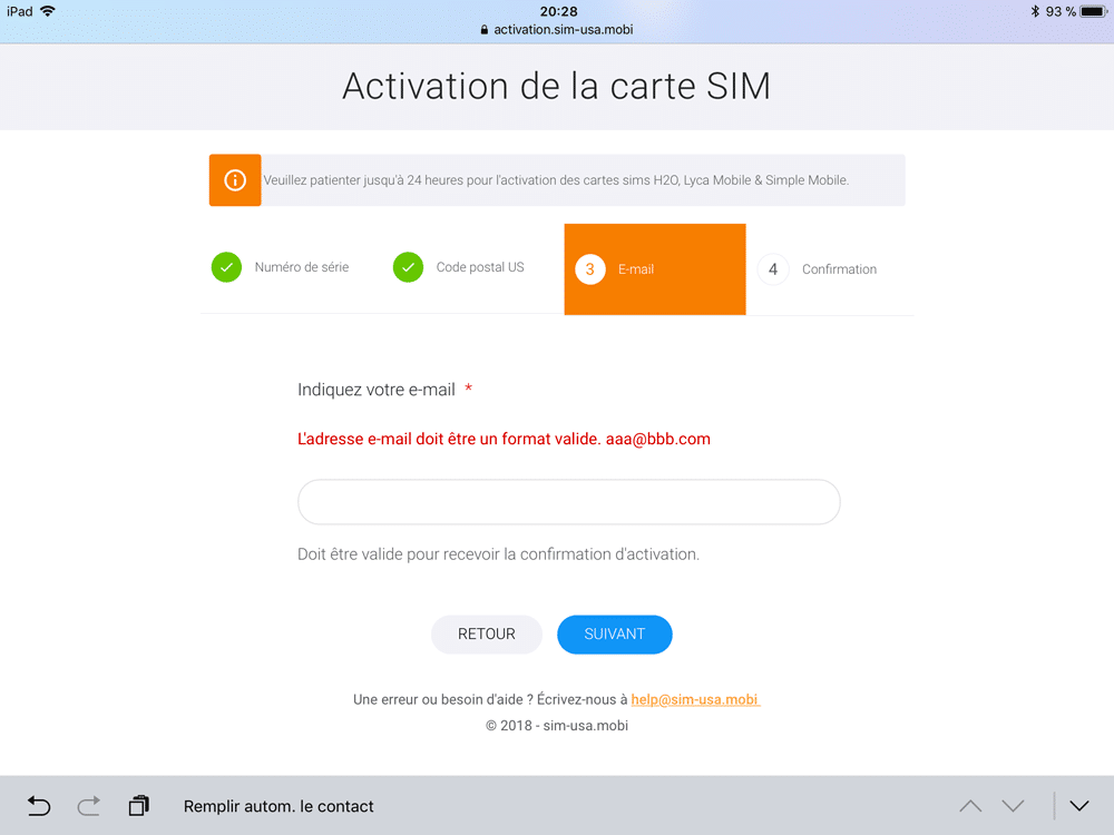 activation carte sim free combien de temps