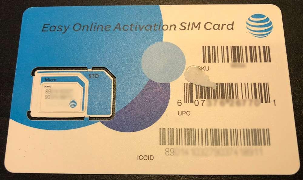 Carte SIM prépayée USA AT&T
