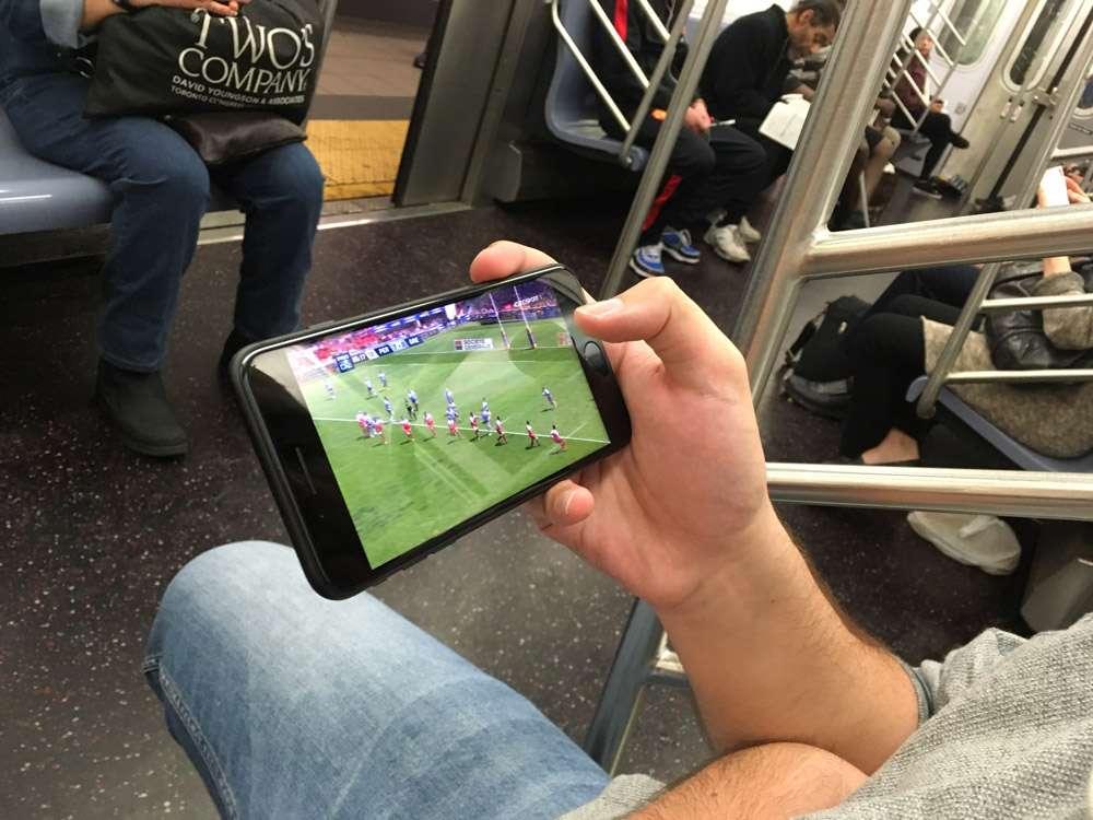 Streaming de l'USAP dans le métro aux USA