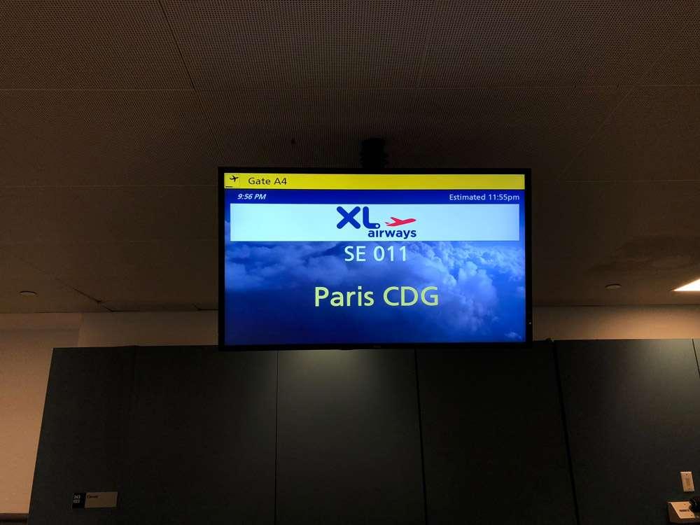 Vol XL Airways Paris New York