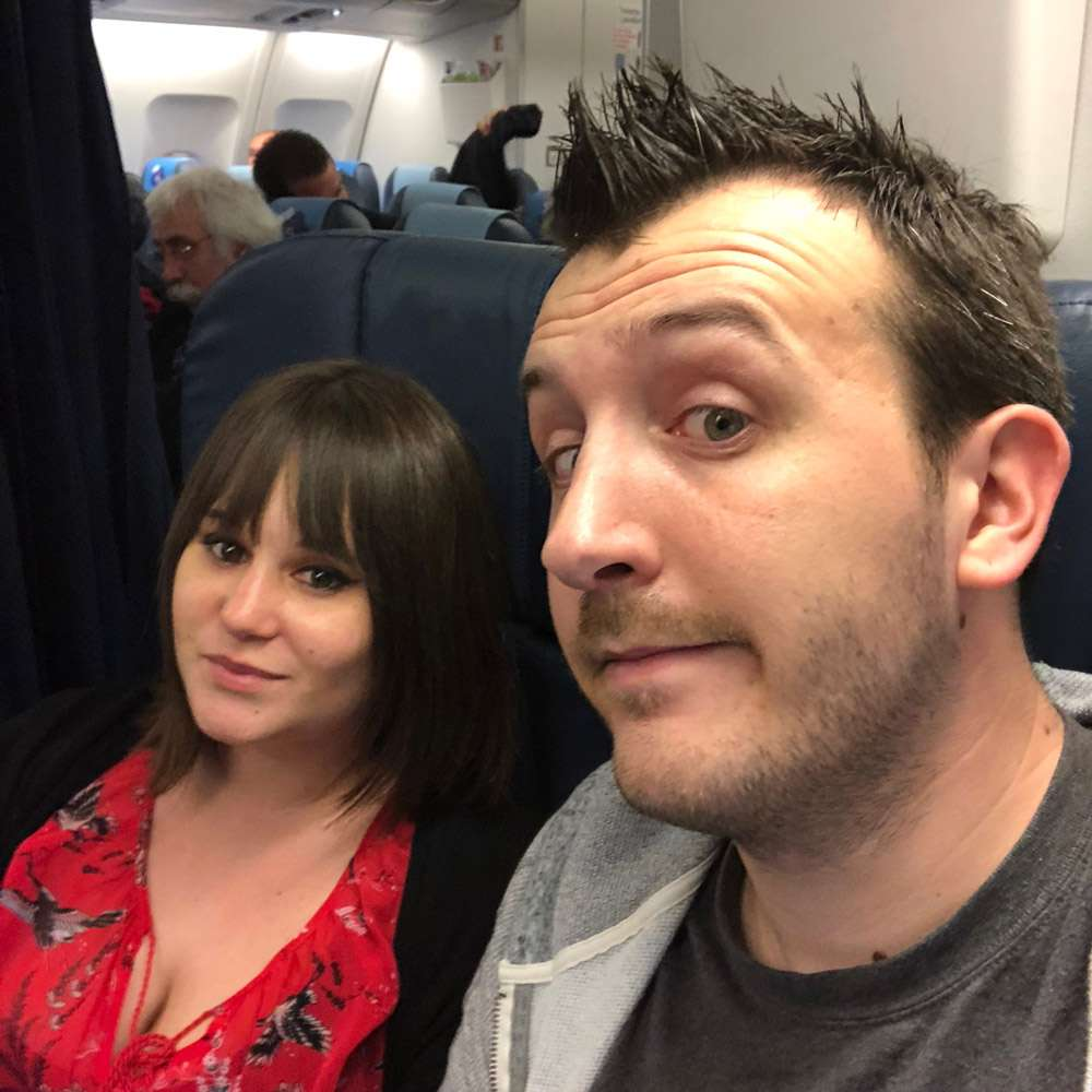 Selfie dans l'avion XL Airways