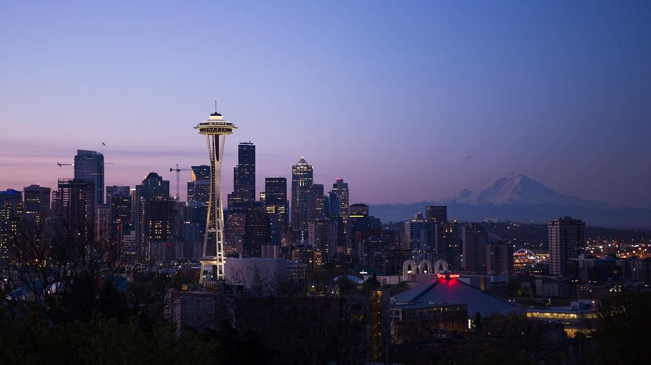 Seattle au crépuscule